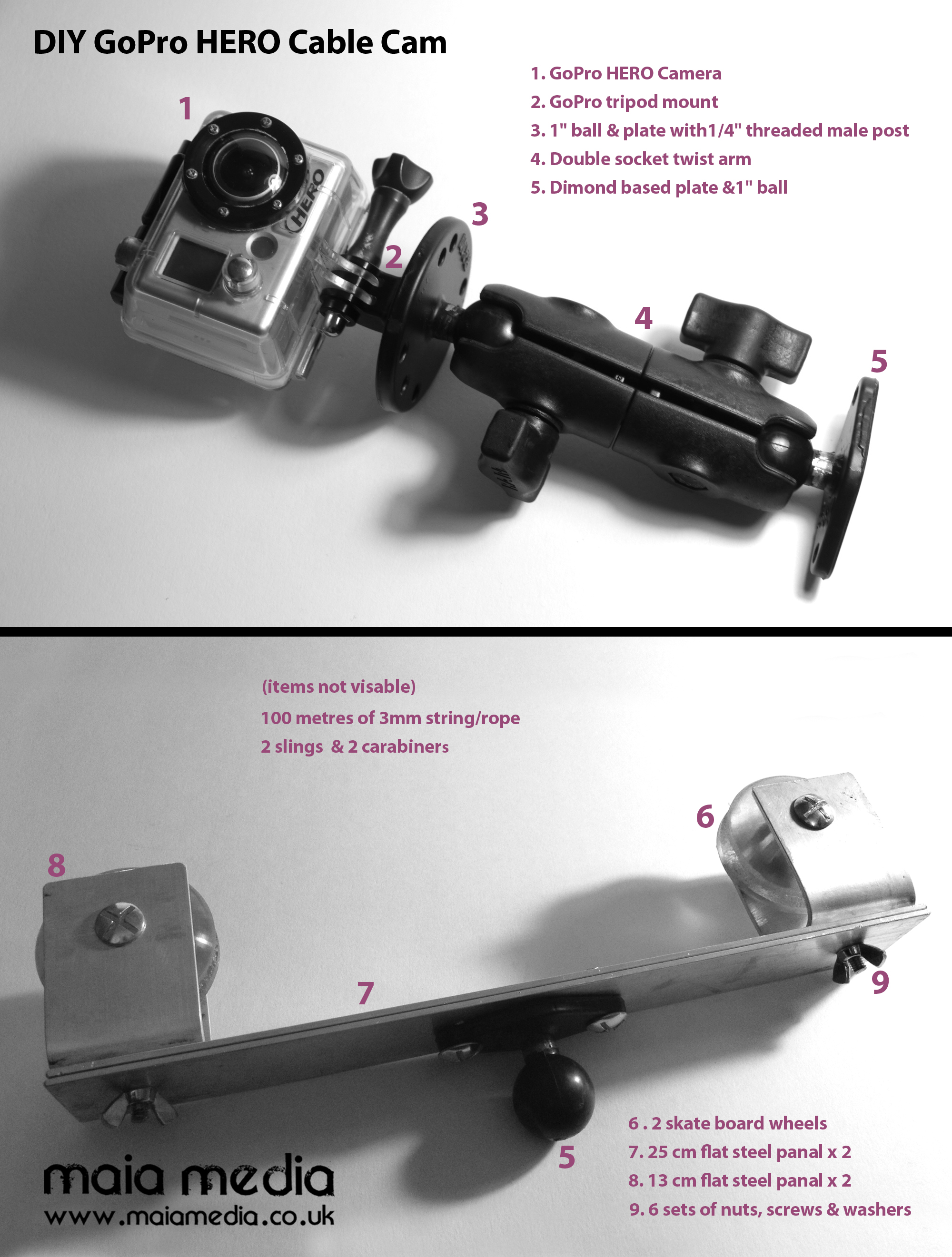 Gopro Cable Cam : Maia media diy gopro cable cam