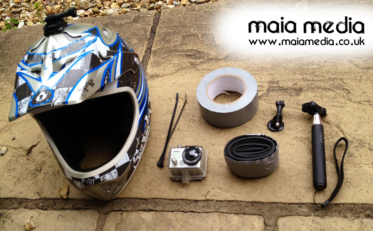 GoPro DIY MTB helmet face kit