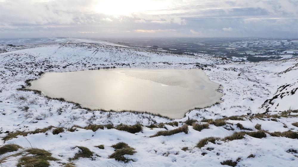 Snow covered swim spot